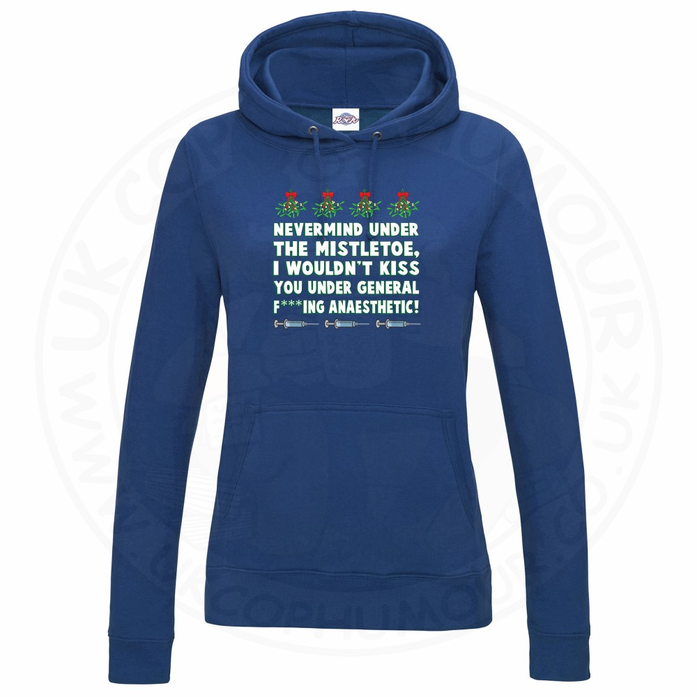 Ladies MISTLETOE ANAESTHETIC Hoodie - Royal Blue, 18