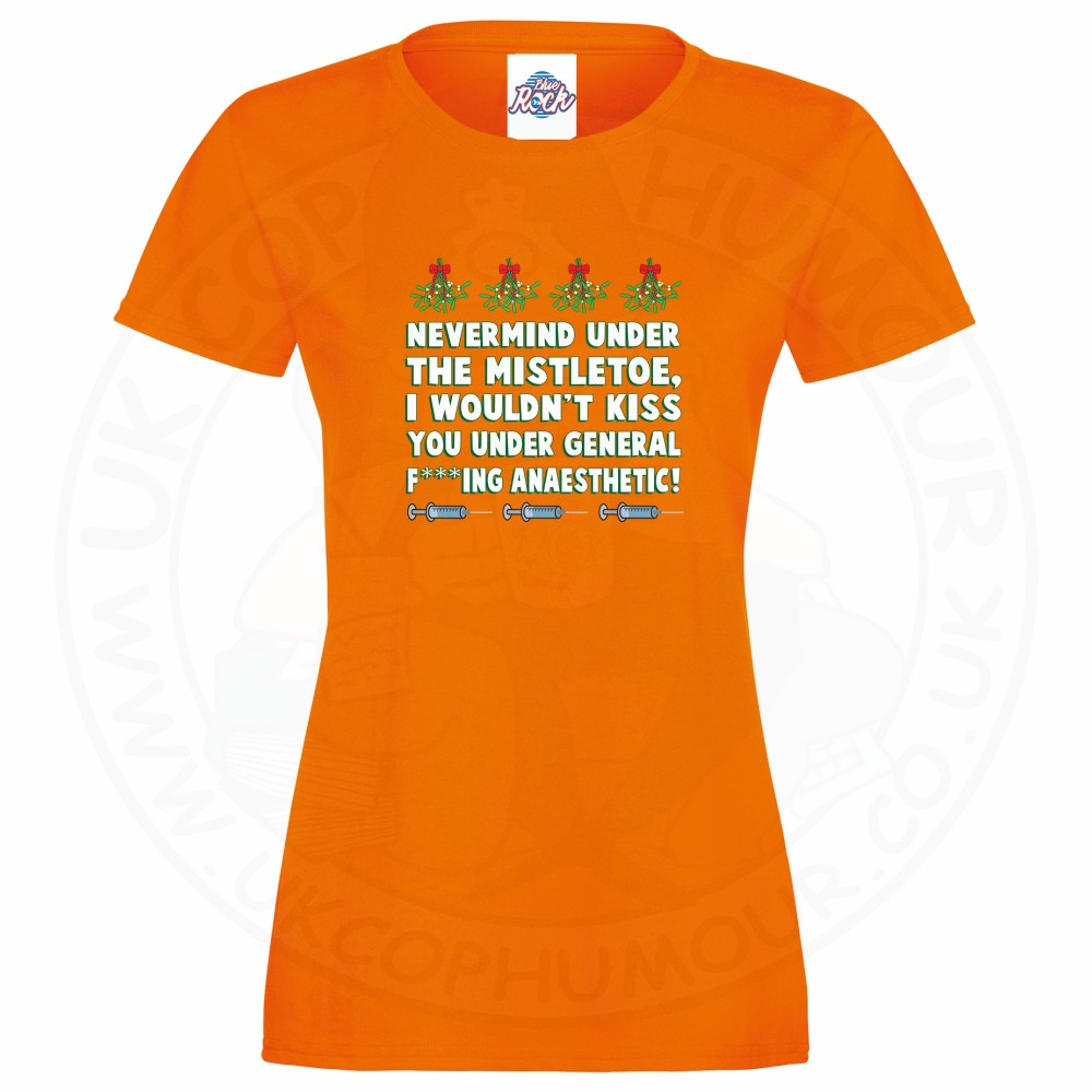 Ladies MISTLETOE ANAESTHETIC T-Shirt - Orange, 18