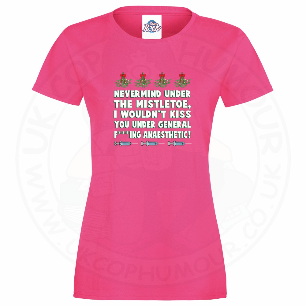 Ladies MISTLETOE ANAESTHETIC T-Shirt - Pink, 18