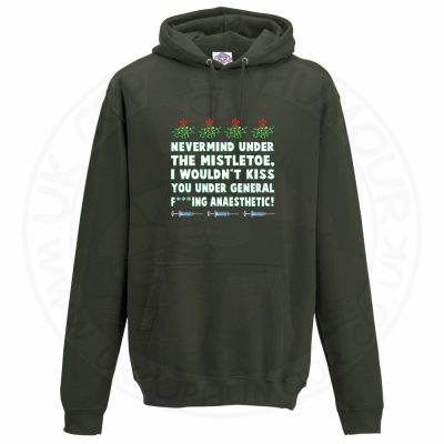 Unisex MISTLETOE ANAESTHETIC Hoodie - Olive Green, 2XL
