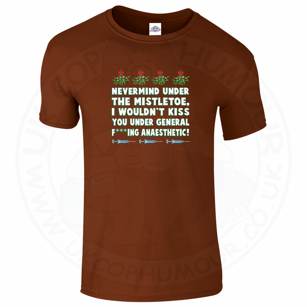 Mens MISTLETOE ANAESTHETIC T-Shirt - Chestnut, 2XL