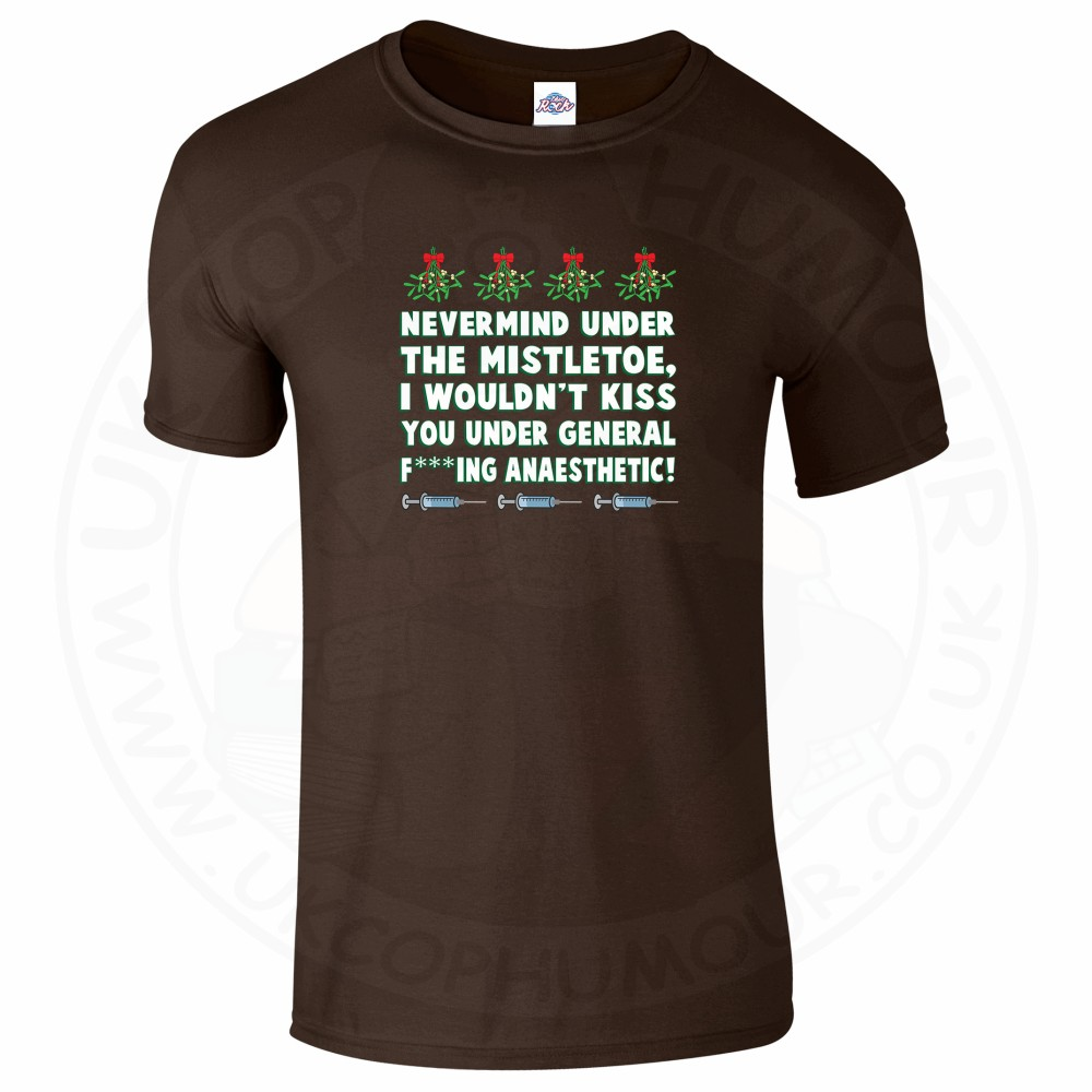 Mens MISTLETOE ANAESTHETIC T-Shirt - Dark Chocolate, 2XL