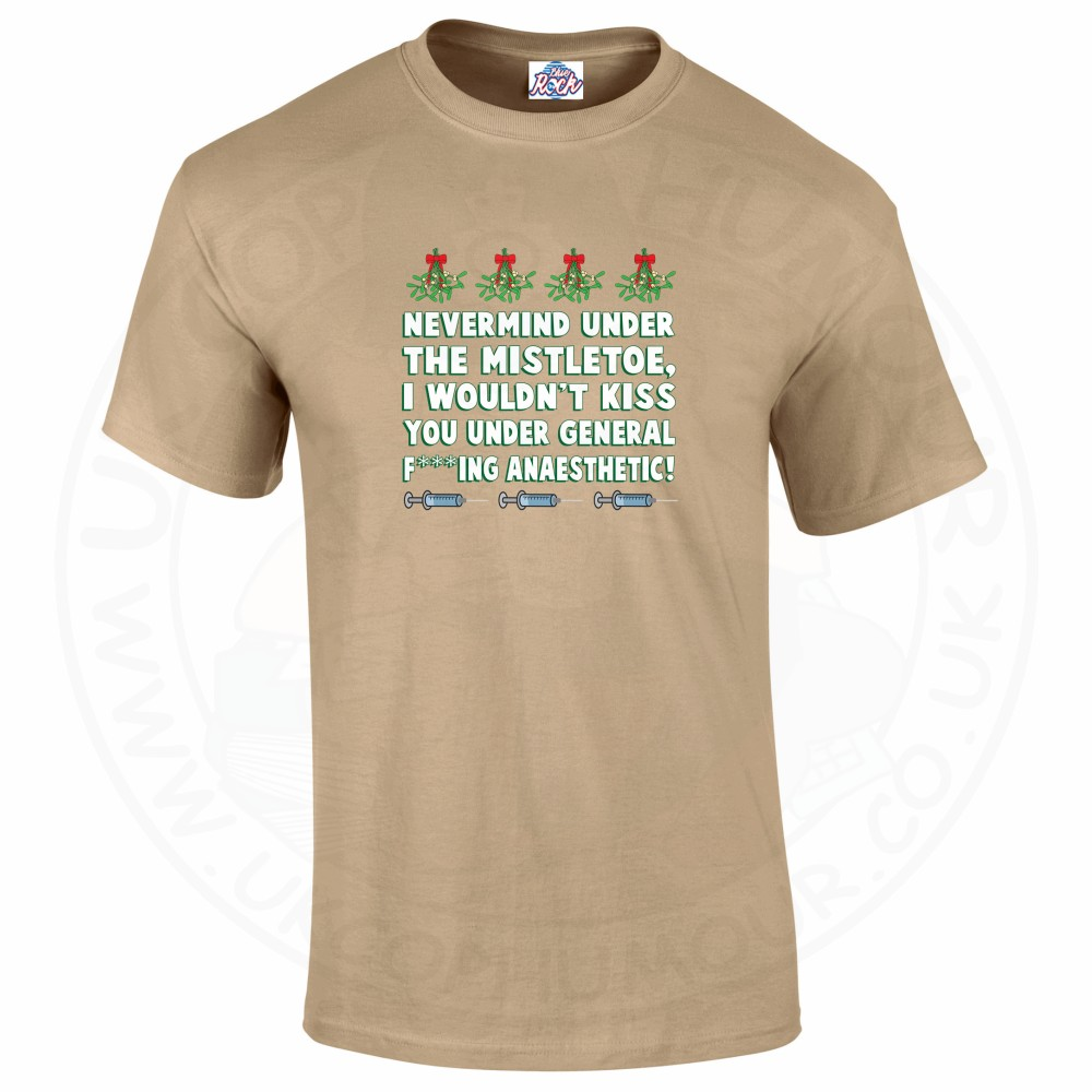 Mens MISTLETOE ANAESTHETIC T-Shirt - Desert, 2XL