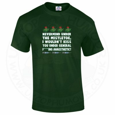 Mens MISTLETOE ANAESTHETIC T-Shirt - Forest Green, 2XL