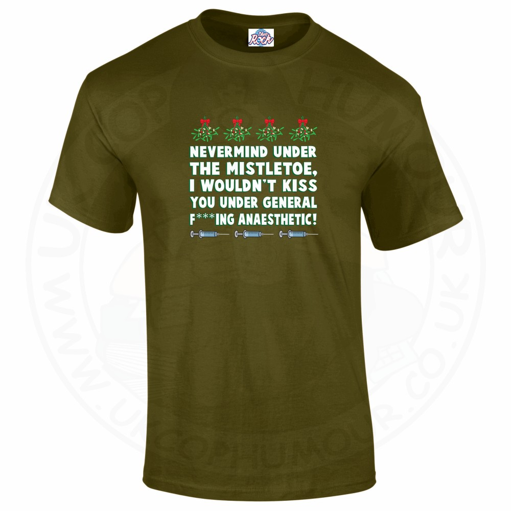 Mens MISTLETOE ANAESTHETIC T-Shirt - Military Green, 2XL