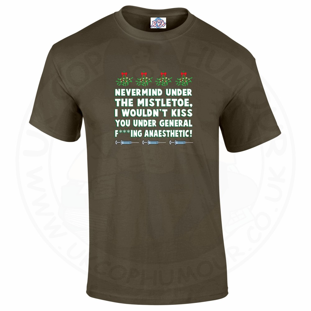 Mens MISTLETOE ANAESTHETIC T-Shirt - Olive Green, 2XL