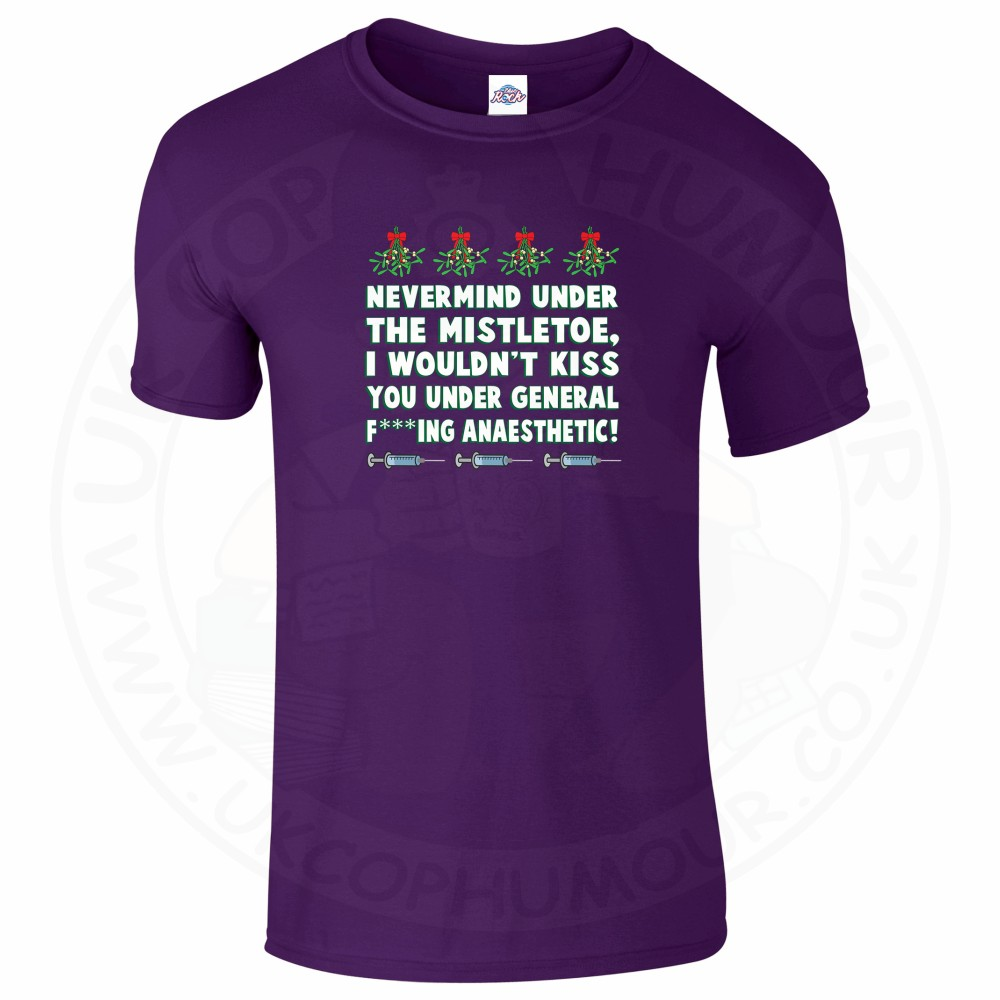 Mens MISTLETOE ANAESTHETIC T-Shirt - Purple, 2XL