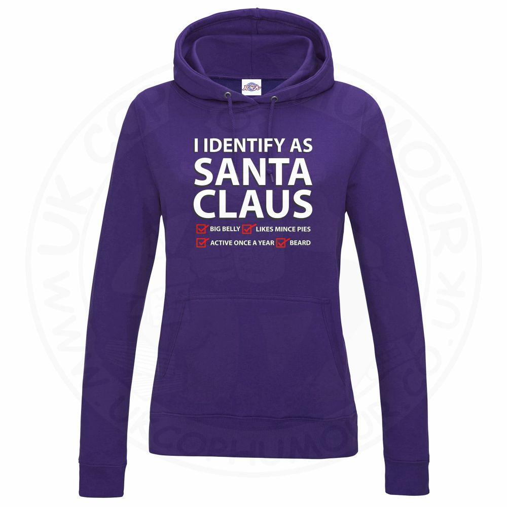 Ladies I IDENTIFY AS SANTA CLAUS Hoodie - Purple, 18