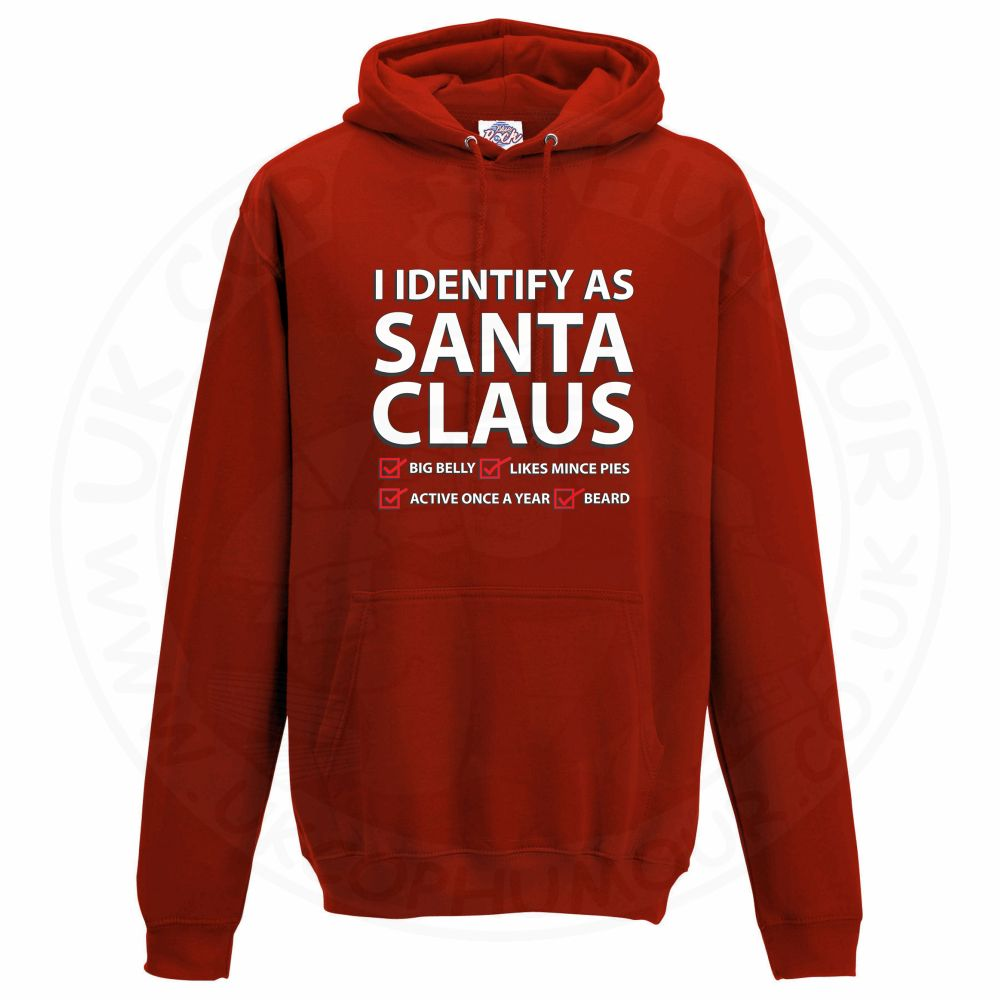 Unisex I IDENTIFY AS SANTA CLAUS Hoodie - Red, 3XL