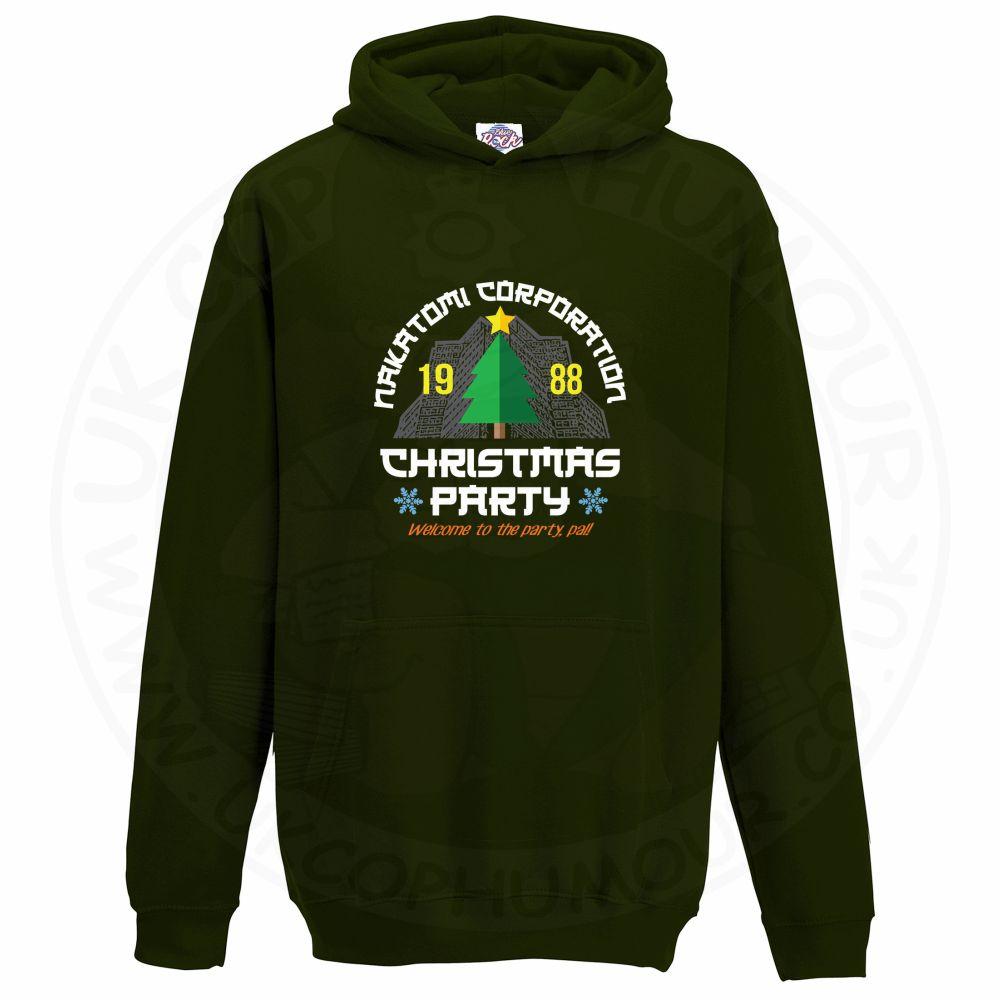 Kids NAKATOMI CORP CHRISTMAS Hoodie - Bottle Green, 12-13 Years
