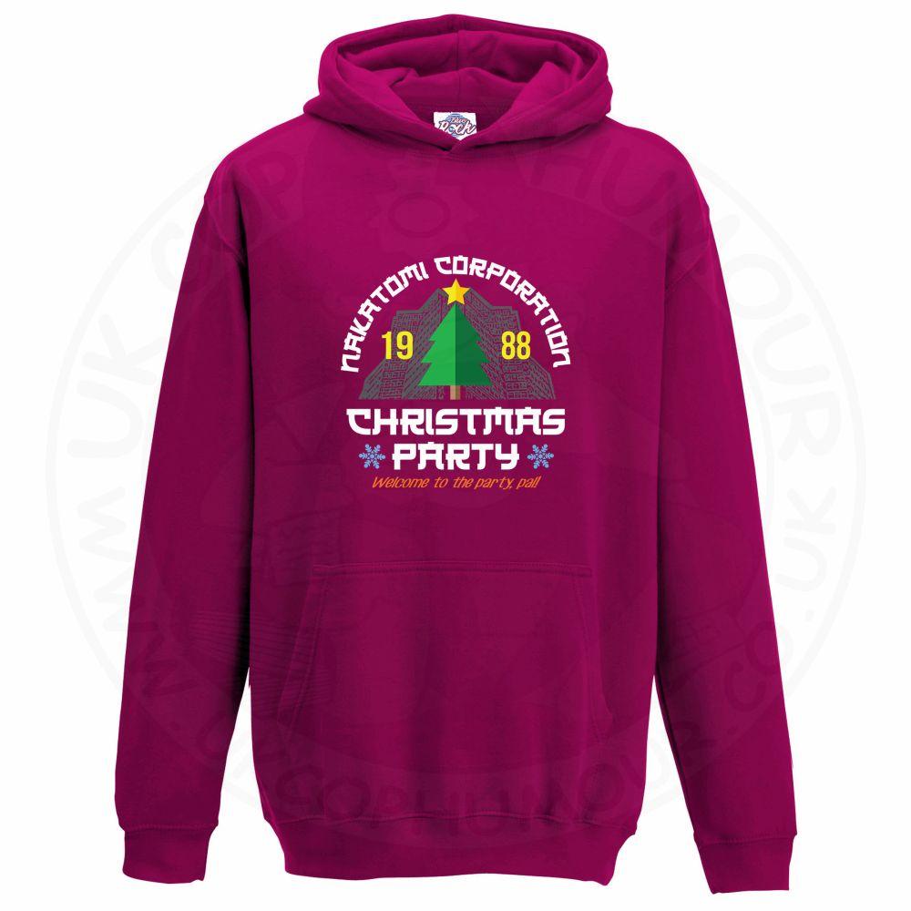 Kids NAKATOMI CORP CHRISTMAS Hoodie - Hot Pink, 12-13 Years