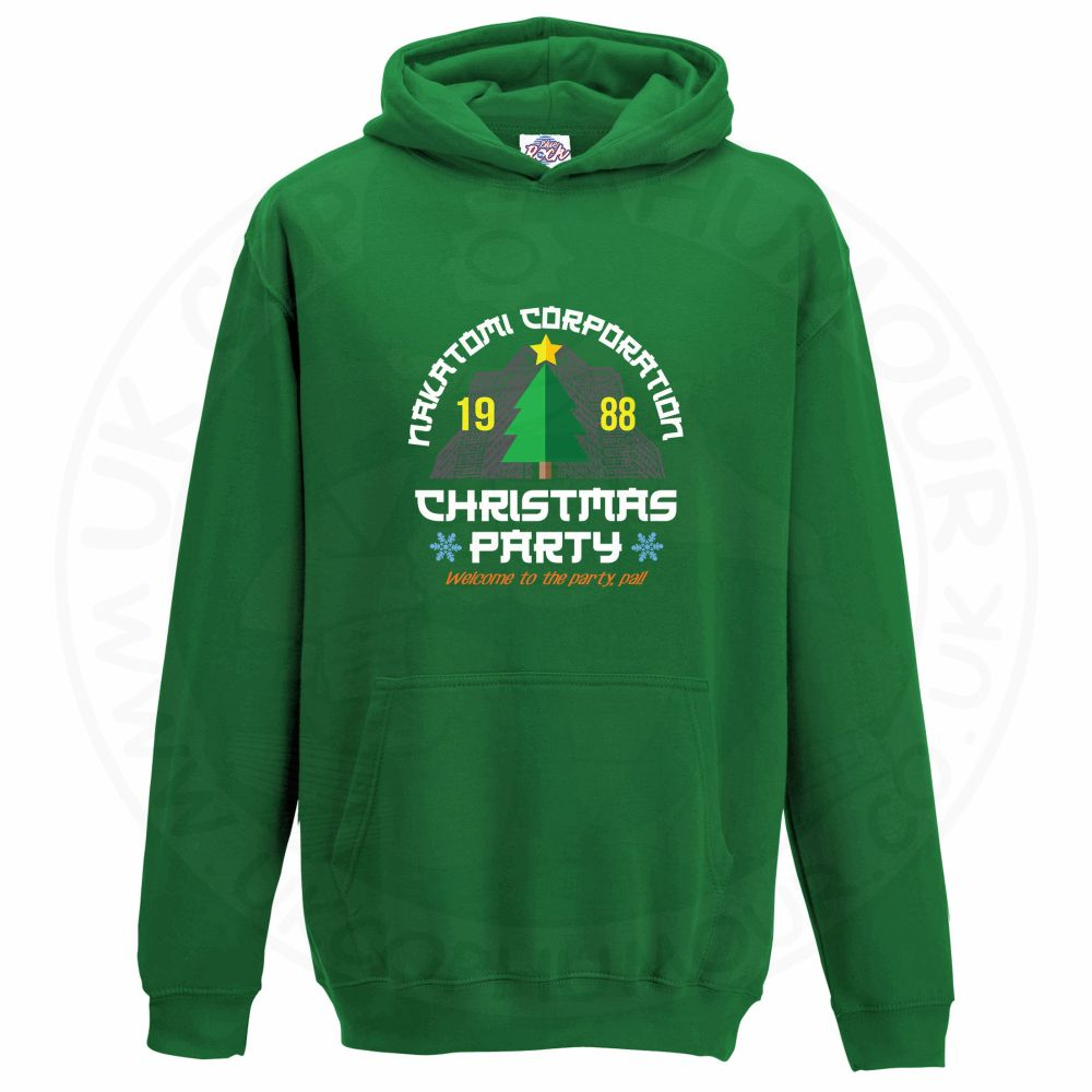 Kids NAKATOMI CORP CHRISTMAS Hoodie - Kelly Green, 12-13 Years