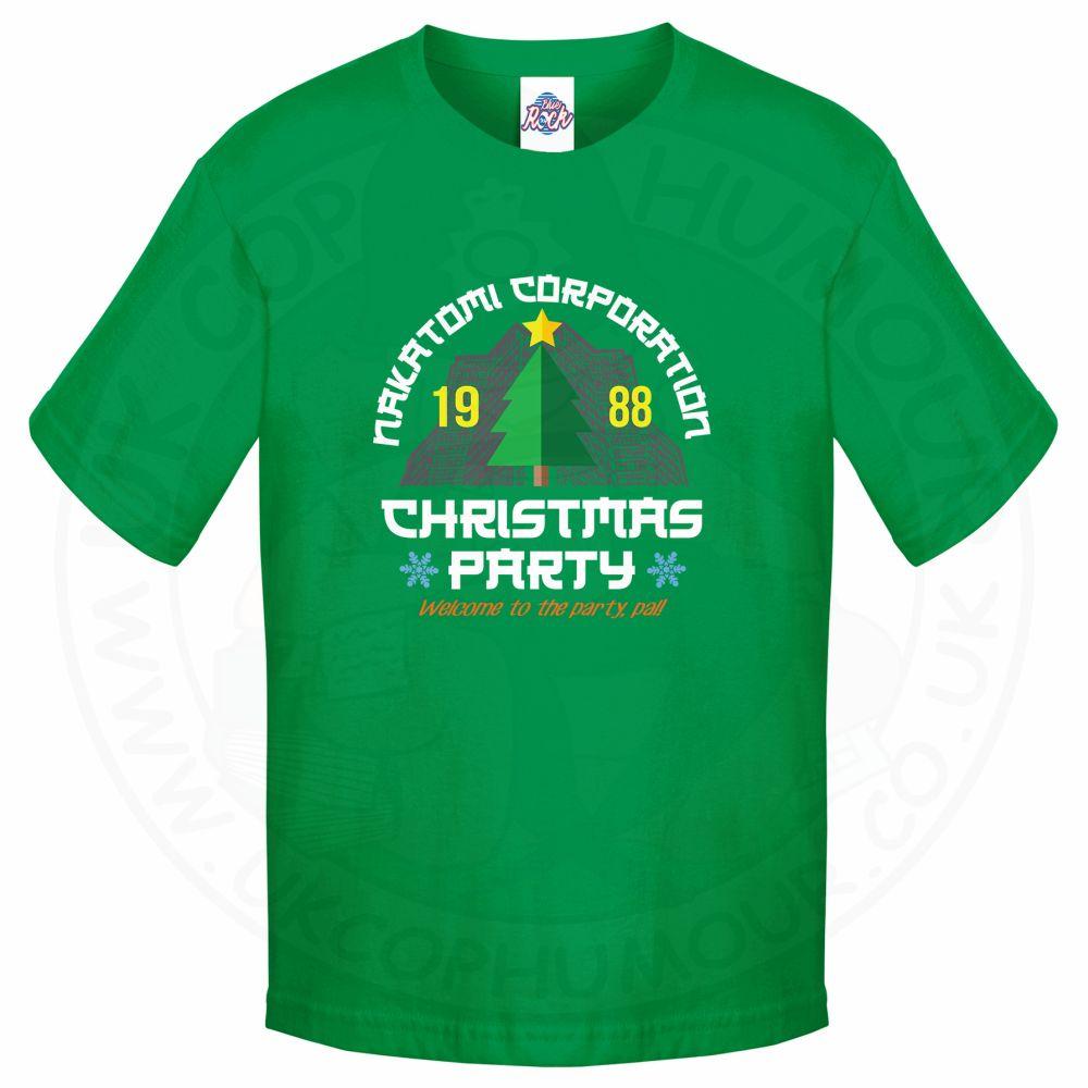 Kids NAKATOMI CORP CHRISTMAS T-Shirt - Kelly Green, 12-13 Years