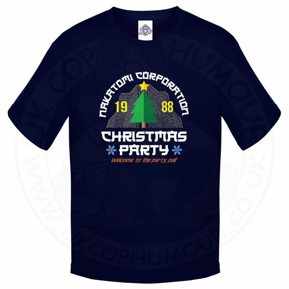 Kids NAKATOMI CORP CHRISTMAS T-Shirt - Navy, 12-13 Years