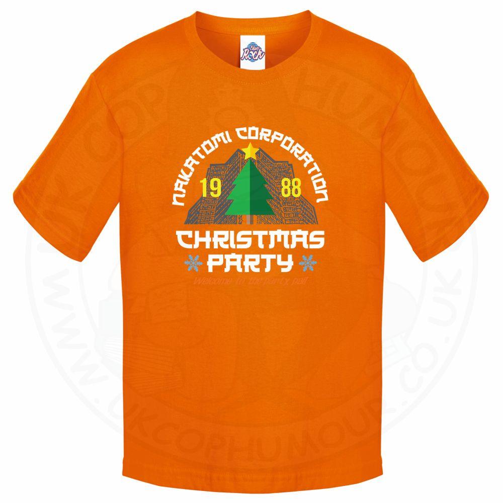 Kids NAKATOMI CORP CHRISTMAS T-Shirt - Orange, 12-13 Years