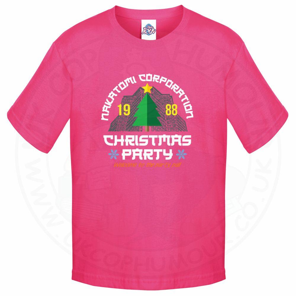 Kids NAKATOMI CORP CHRISTMAS T-Shirt - Pink, 12-13 Years