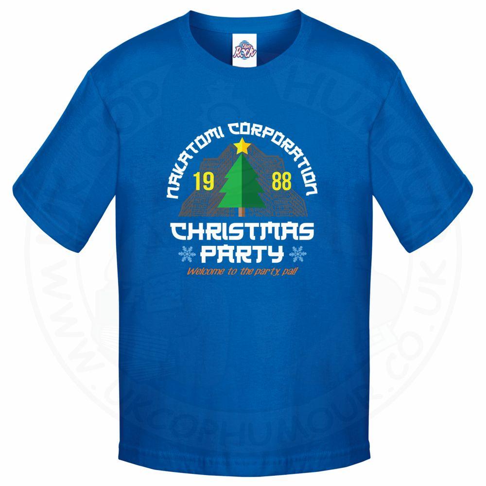 Kids NAKATOMI CORP CHRISTMAS T-Shirt - Royal Blue, 12-13 Years