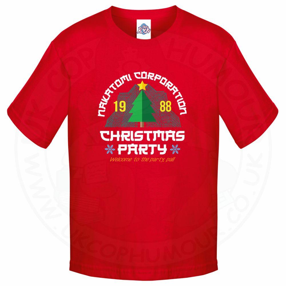 Kids NAKATOMI CORP CHRISTMAS T-Shirt - Red, 12-13 Years