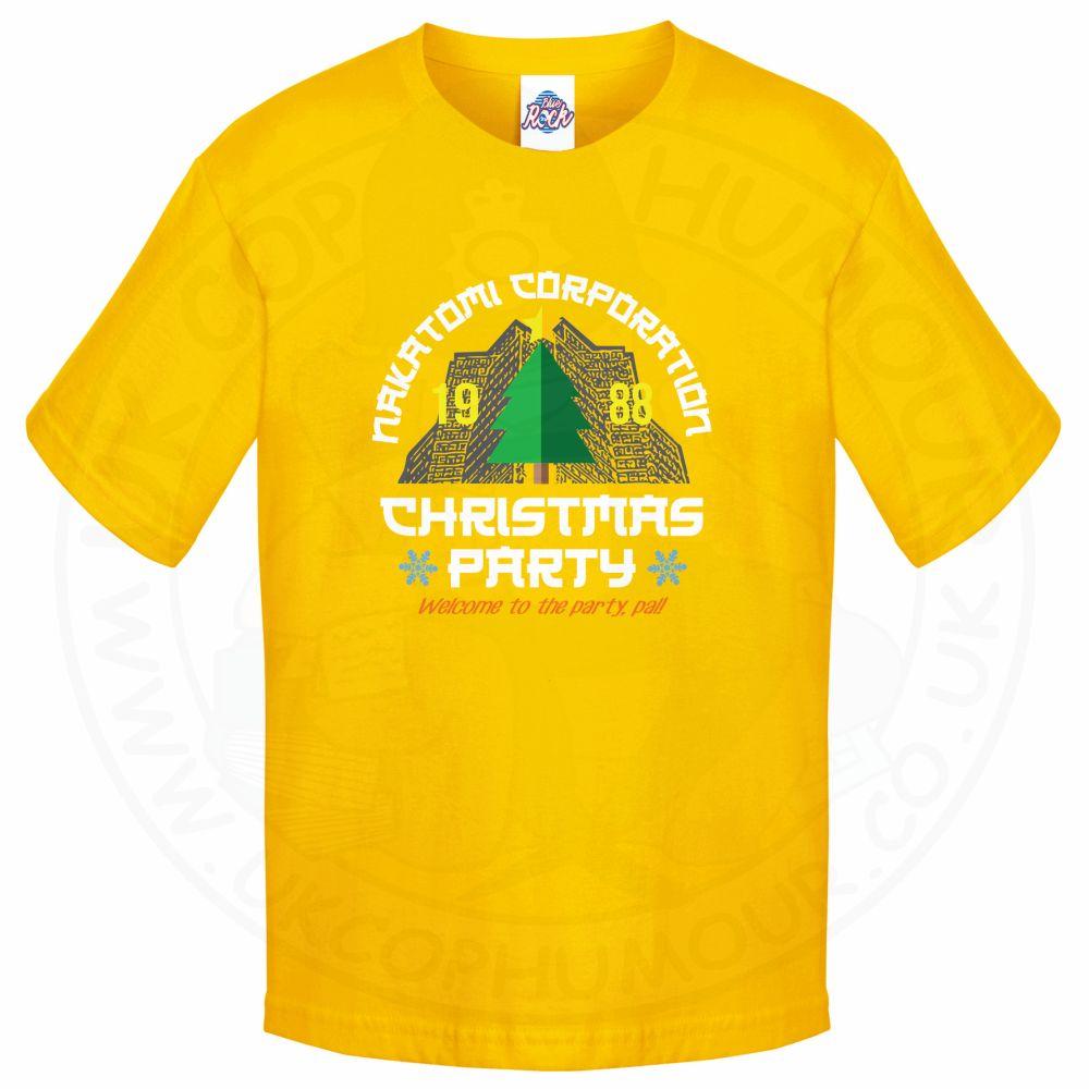 Kids NAKATOMI CORP CHRISTMAS T-Shirt - Yellow, 12-13 Years