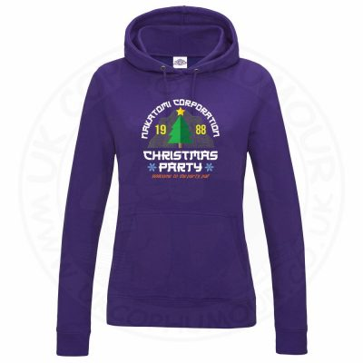 Ladies NAKATOMI CORP CHRISTMAS Hoodie - Purple, 18