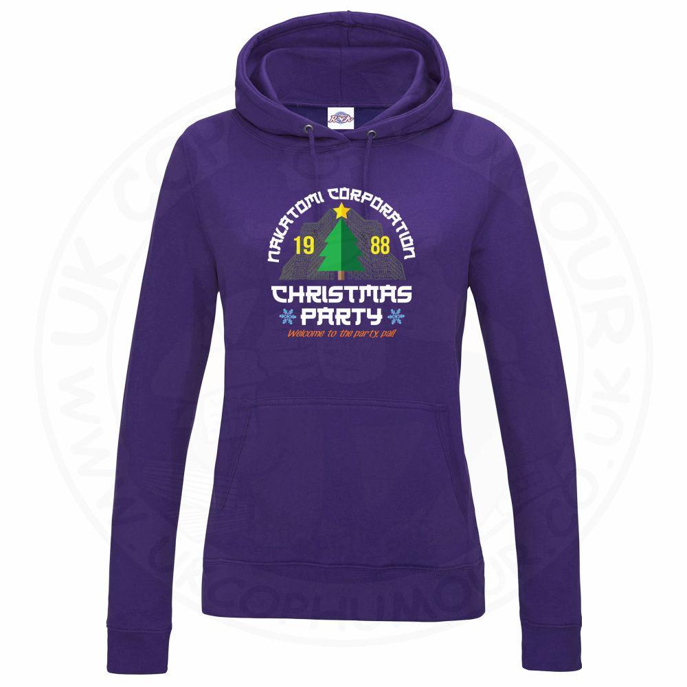 Ladies NAKATOMI CORP CHRISTMAS Hoodie - Purple, 18