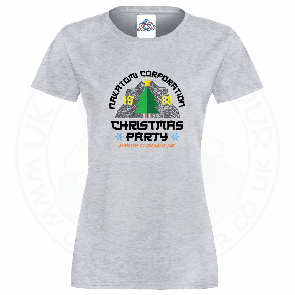 Ladies NAKATOMI CORP CHRISTMAS T-Shirt - Heather Grey, 18