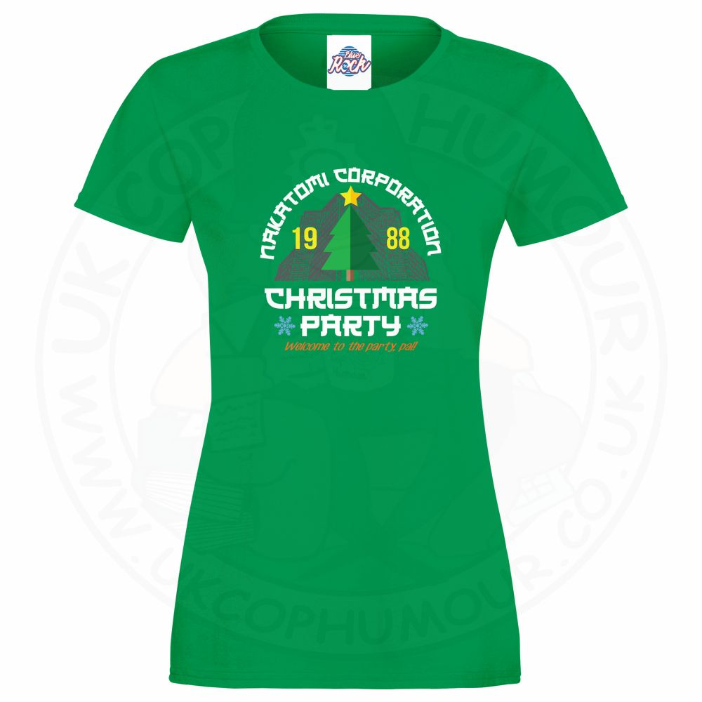 Ladies NAKATOMI CORP CHRISTMAS T-Shirt - Kelly Green, 18