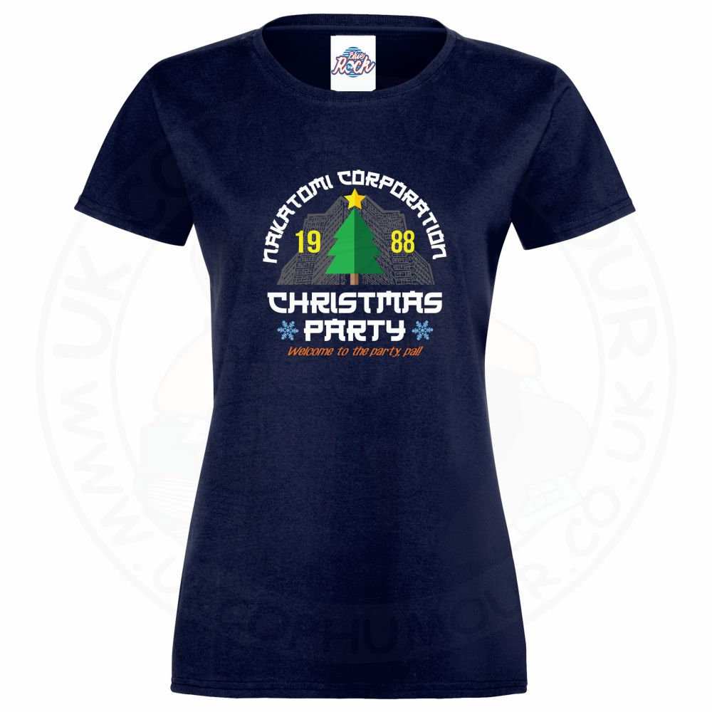 Ladies NAKATOMI CORP CHRISTMAS T-Shirt - Navy, 18
