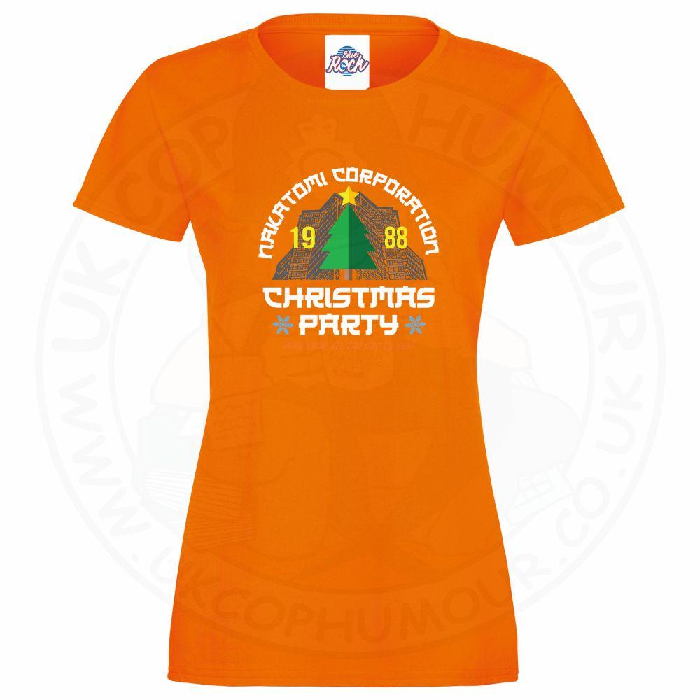 Ladies NAKATOMI CORP CHRISTMAS T-Shirt - Orange, 18