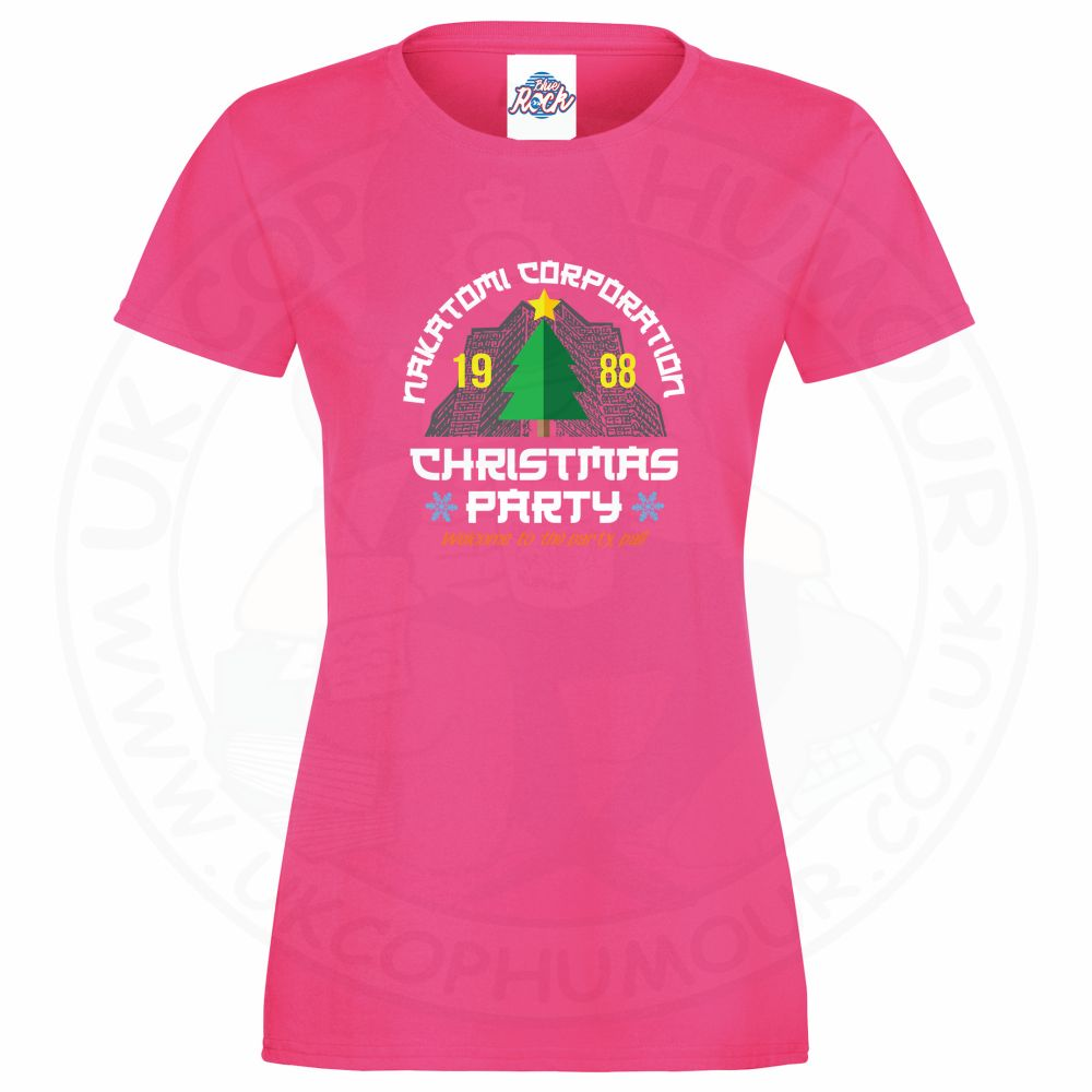 Ladies NAKATOMI CORP CHRISTMAS T-Shirt - Pink, 18