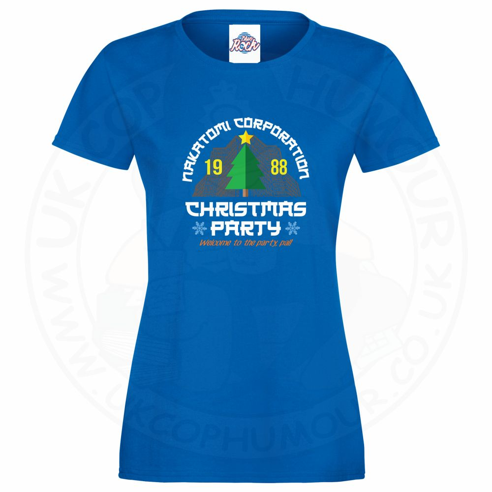 Ladies NAKATOMI CORP CHRISTMAS T-Shirt - Royal Blue, 18