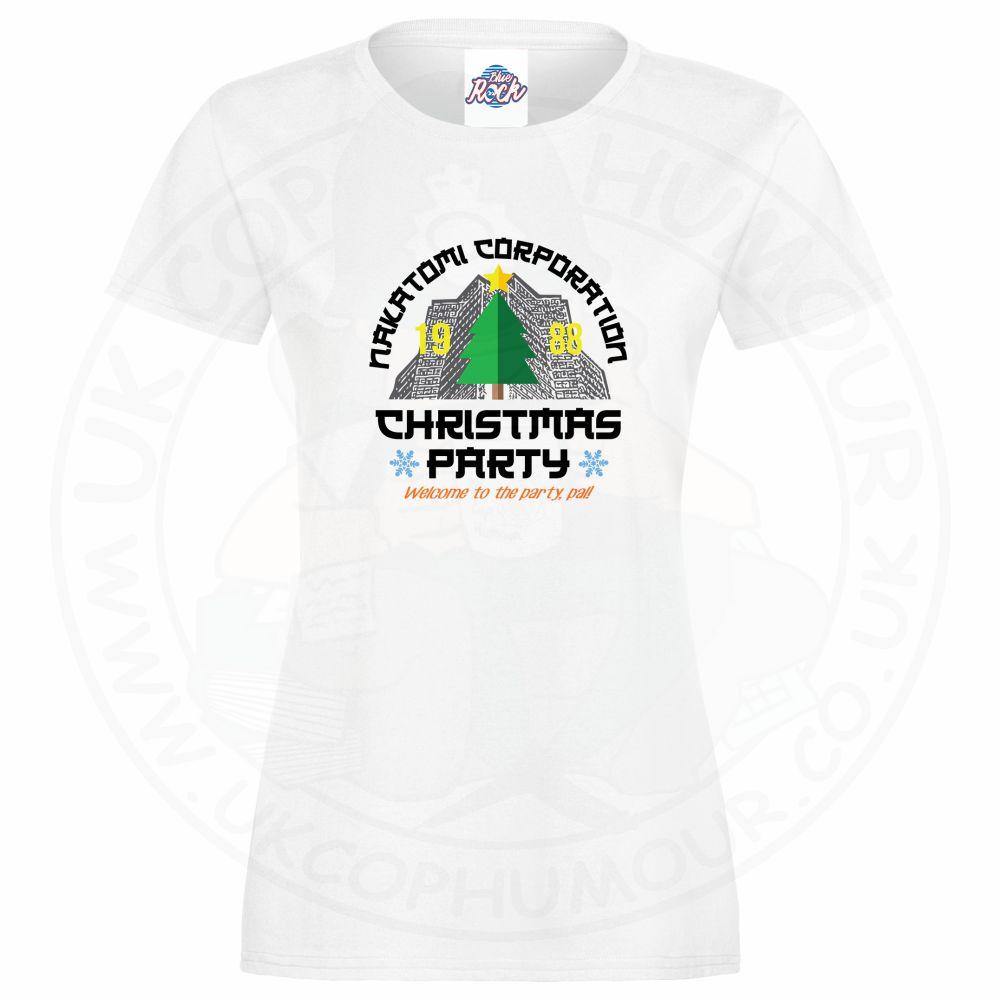 Ladies NAKATOMI CORP CHRISTMAS T-Shirt - White, 18