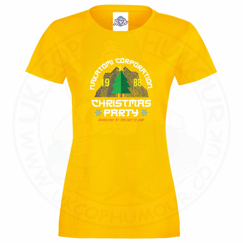 Ladies NAKATOMI CORP CHRISTMAS T-Shirt - Yellow, 18