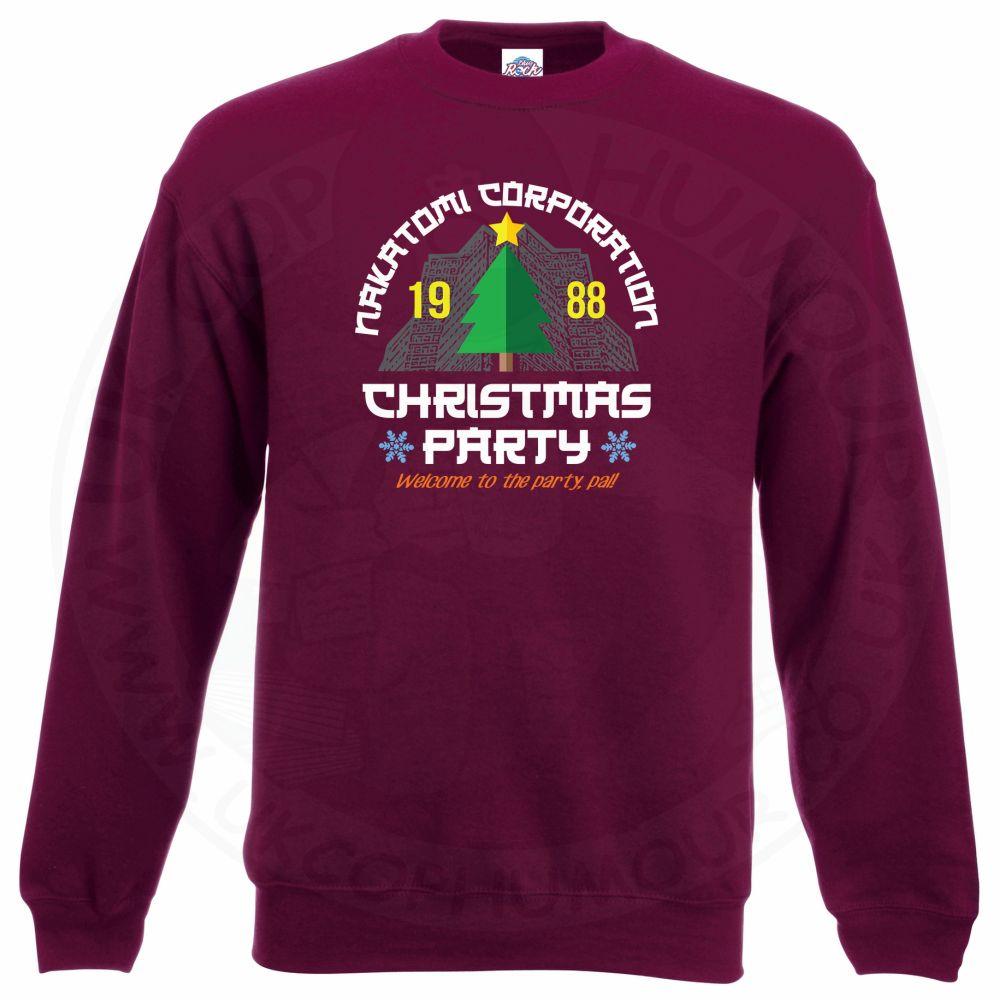 NAKATOMI CORP CHRISTMAS Sweatshirt - Maroon, 2XL