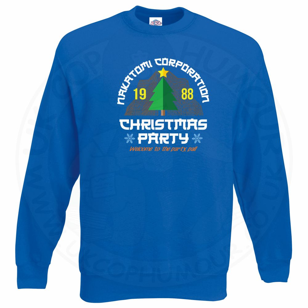 NAKATOMI CORP CHRISTMAS Sweatshirt - Royal Blue, 2XL