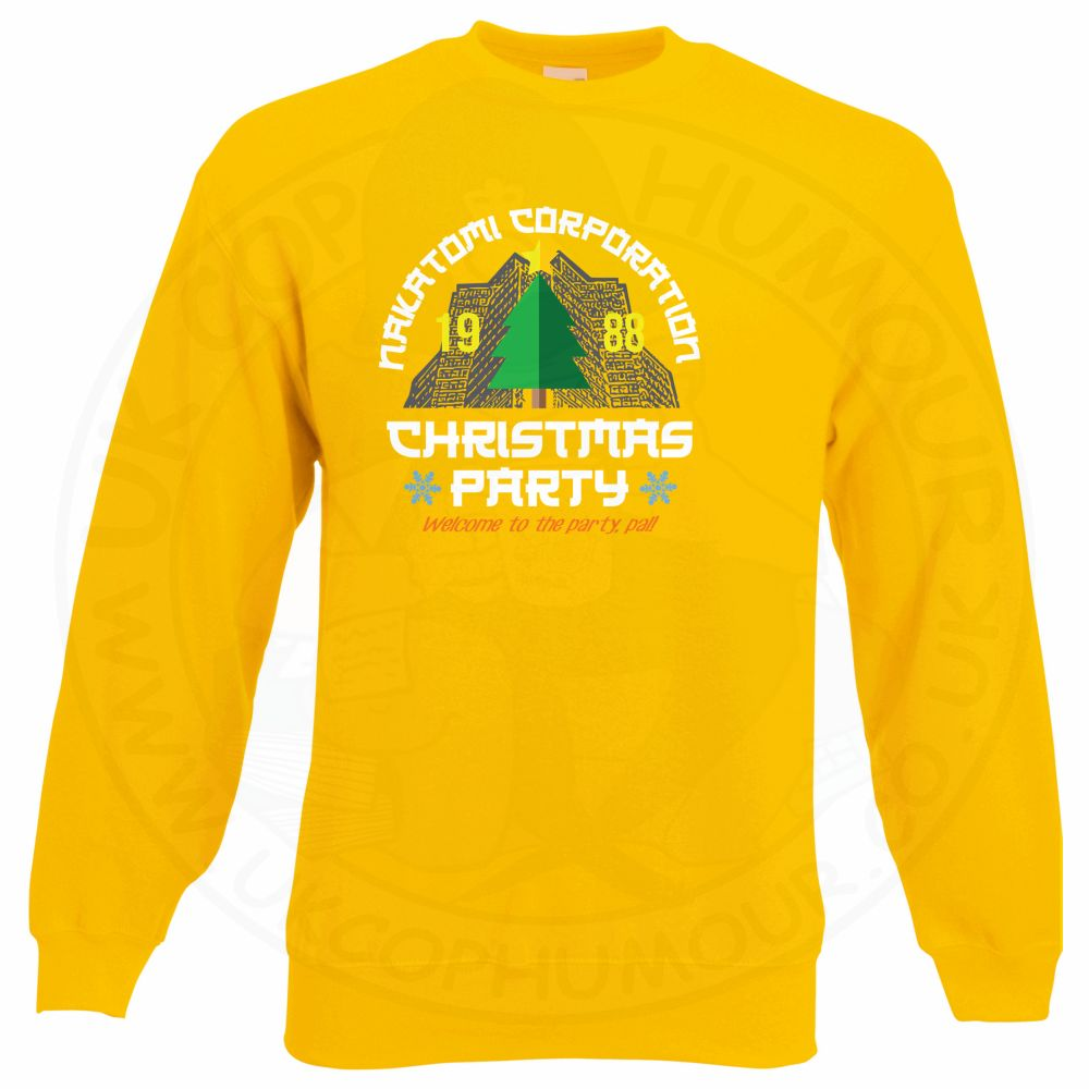 NAKATOMI CORP CHRISTMAS Sweatshirt - Yellow, 2XL