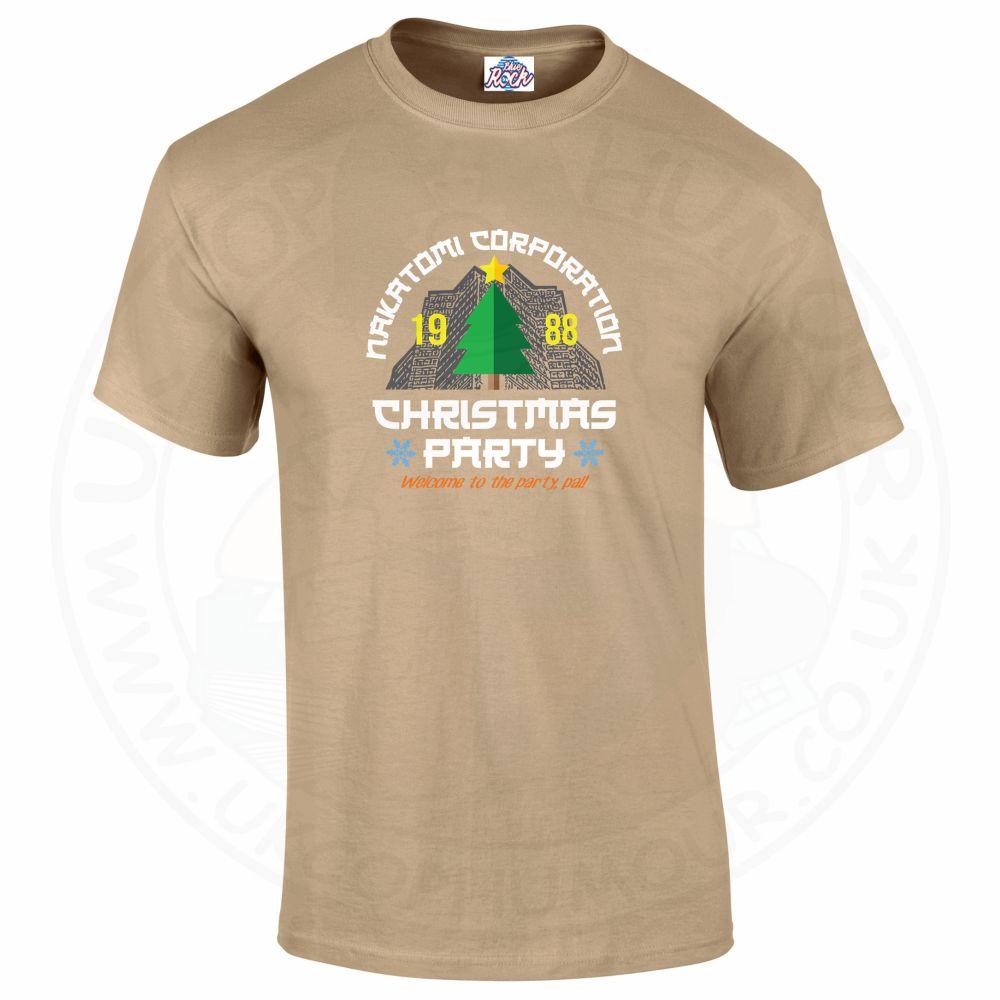 Mens NAKATOMI CORP CHRISTMAS T-Shirt - Desert, 2XL