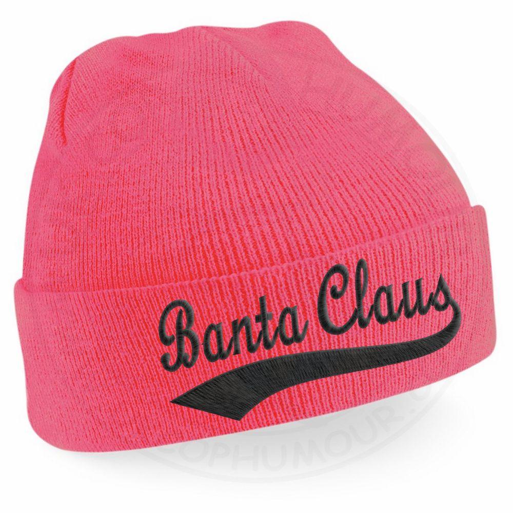 BANTA CLAUS Beanie - Fluorescent Pink
