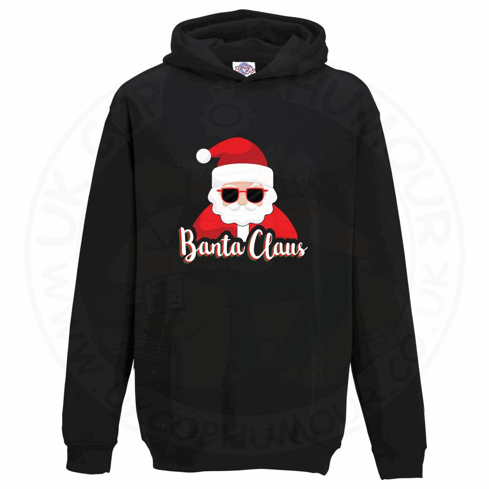 Kids BANTA CLAUS Hoodie - Black, 12-13 Years