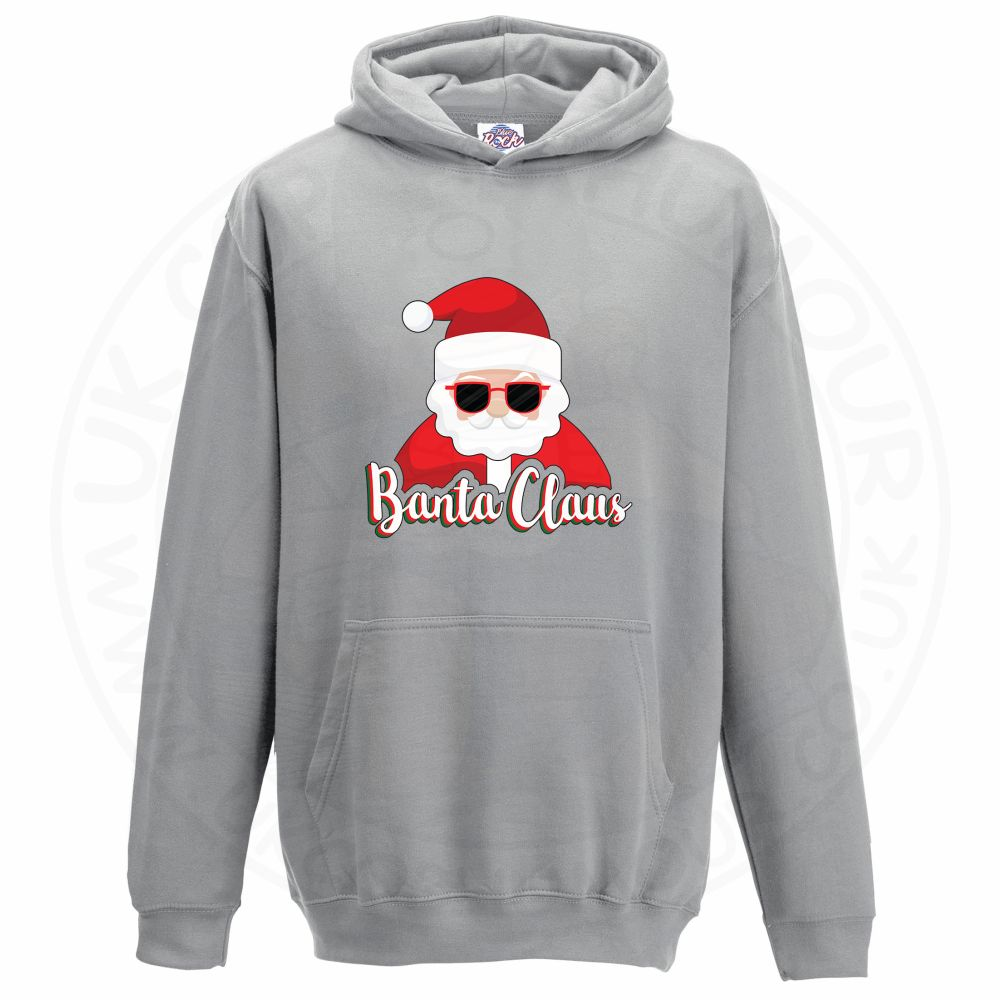 Kids BANTA CLAUS Hoodie - Grey, 12-13 Years