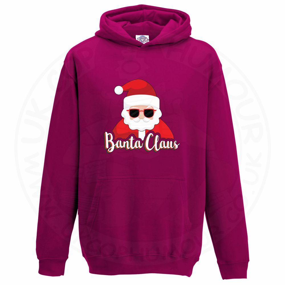 Kids BANTA CLAUS Hoodie - Hot Pink, 12-13 Years