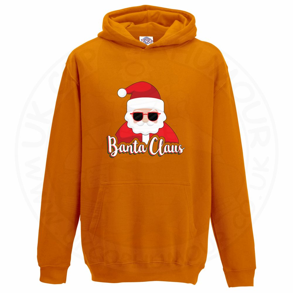 Kids BANTA CLAUS Hoodie - Orange, 12-13 Years