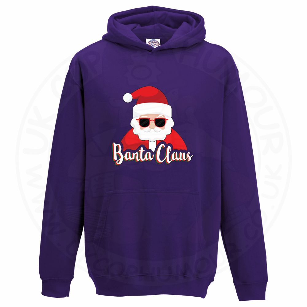 Kids BANTA CLAUS Hoodie - Purple, 12-13 Years