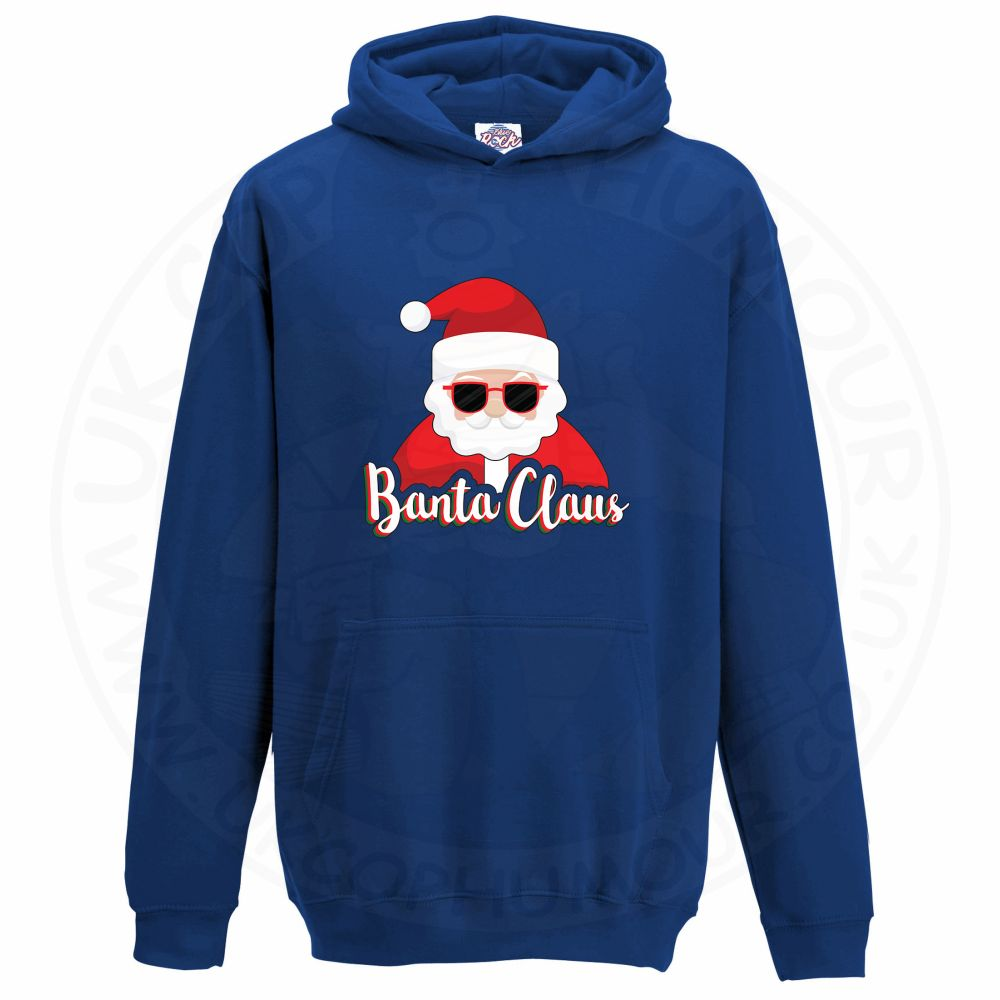 Kids BANTA CLAUS Hoodie - Royal Blue, 12-13 Years