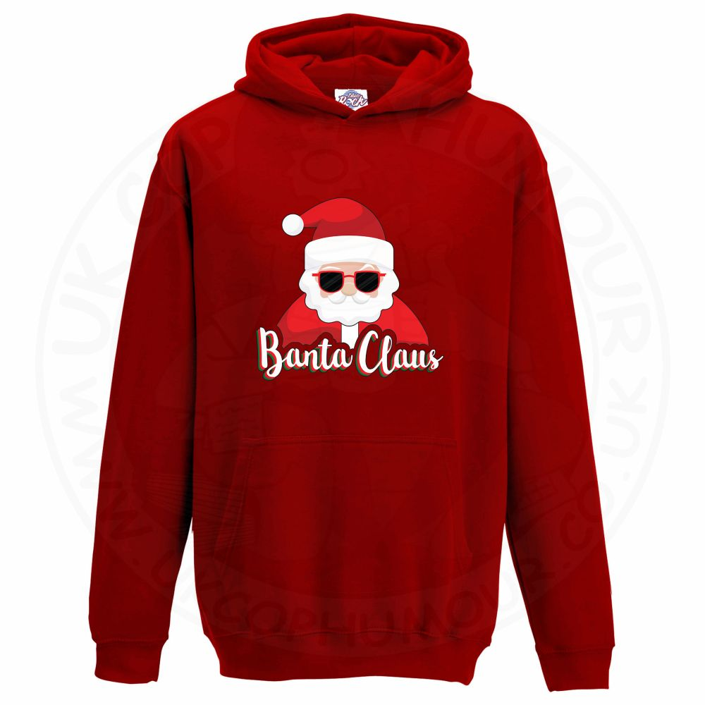 Kids BANTA CLAUS Hoodie - Red, 12-13 Years