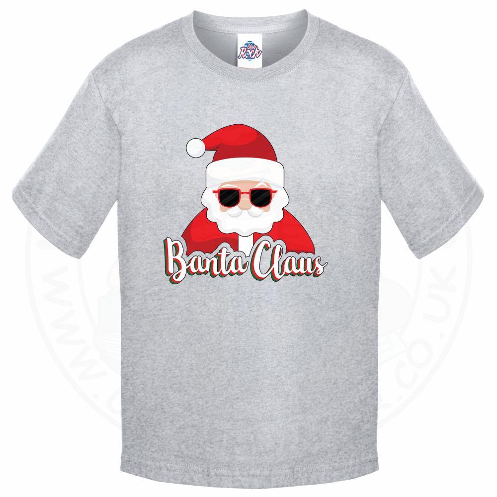 Kids BANTA CLAUS T-Shirt - Grey, 12-13 Years