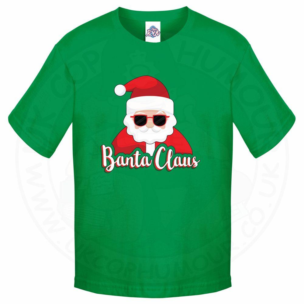 Kids BANTA CLAUS T-Shirt - Kelly Green, 12-13 Years