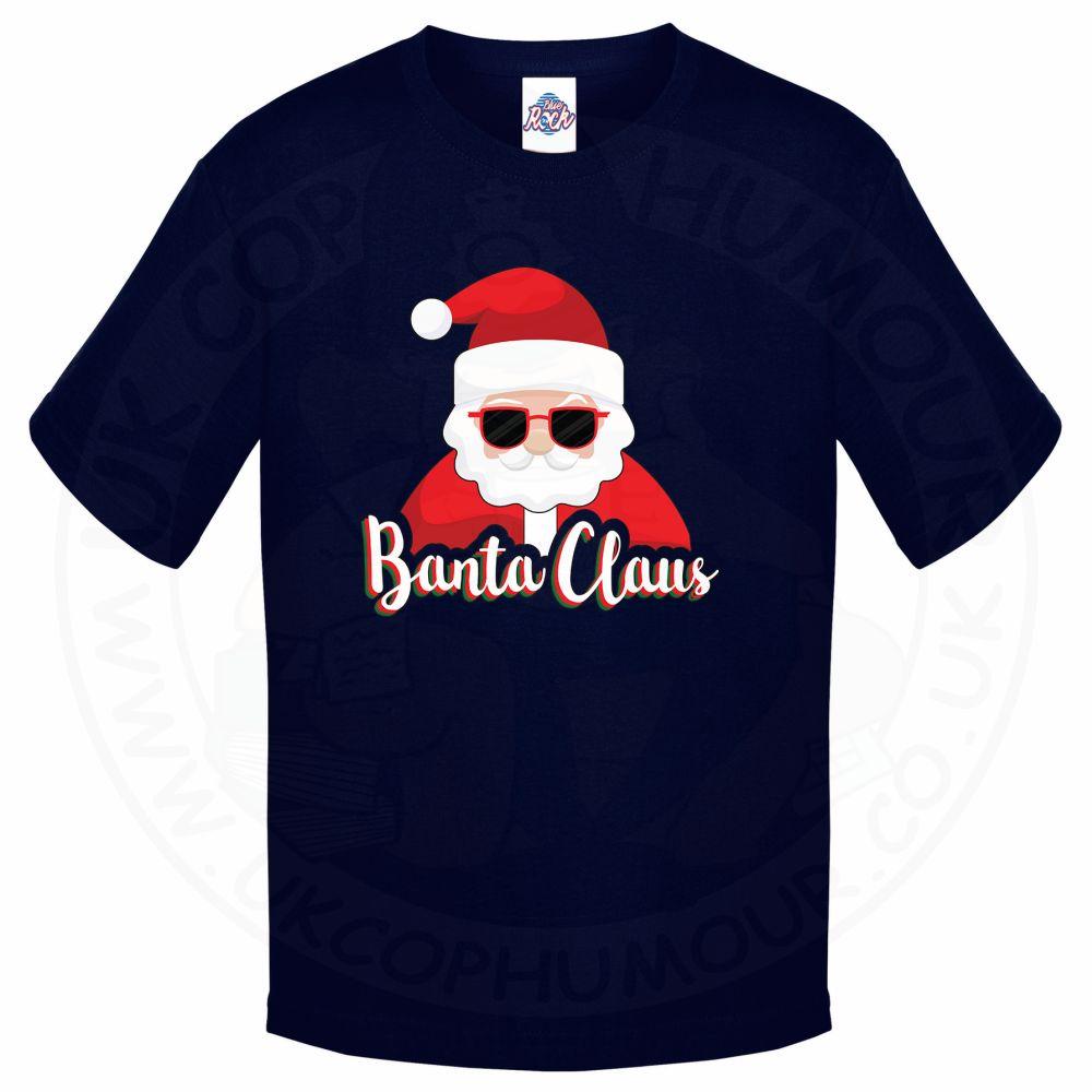 Kids BANTA CLAUS T-Shirt - Navy, 12-13 Years