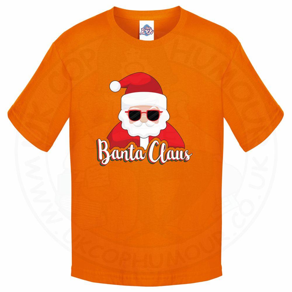 Kids BANTA CLAUS T-Shirt - Orange, 12-13 Years