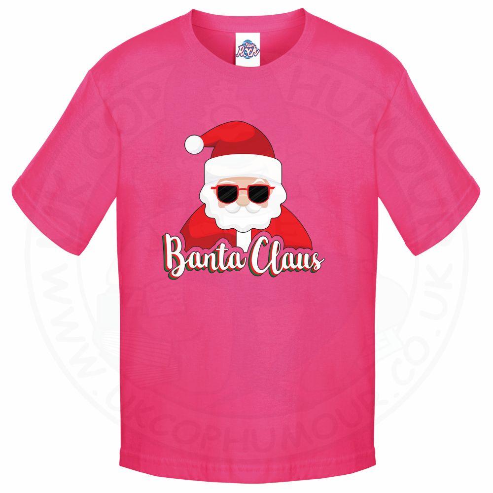 Kids BANTA CLAUS T-Shirt - Pink, 12-13 Years